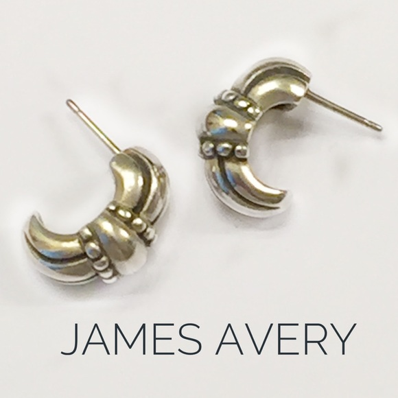 James Avery Jewelry Retired Sterling Half Hoop Earrings Poshmark
